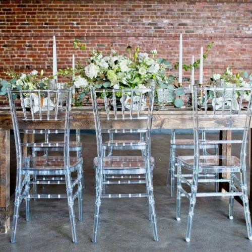 Clear Chiavari Chair Rental Rustic Table
