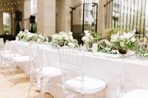 Gold Chiavari Chair Rental White Linen Lights