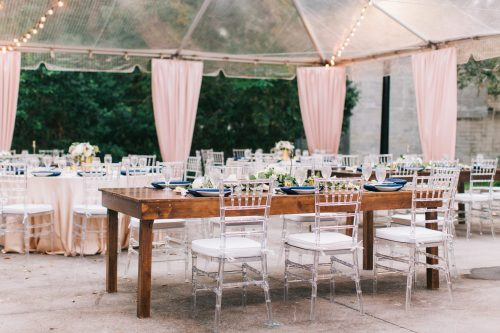 Clear Chiavari Chair Rental Farm Table