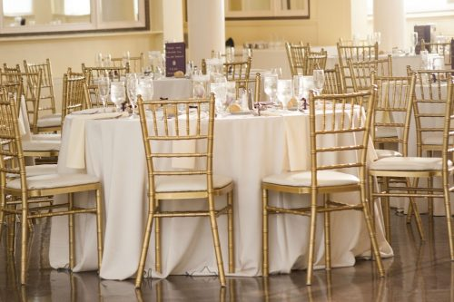gold Chiavari Chairs for rental.