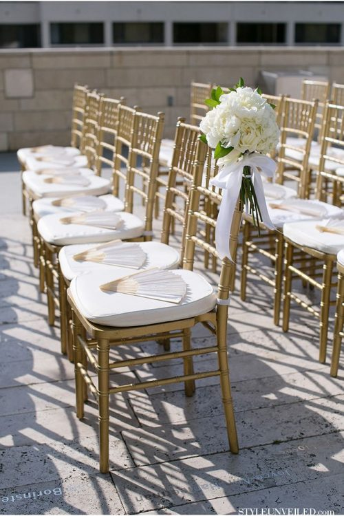 White and Gold Chiavari Chair Rental