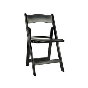 Black Padded Garden Chair