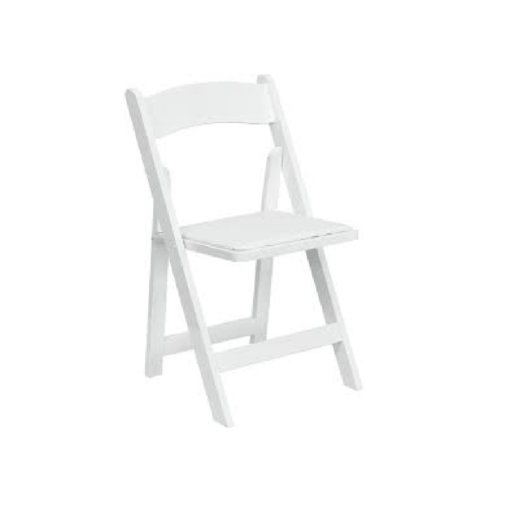 White Padded Garden Chair Knight S Tent Rental