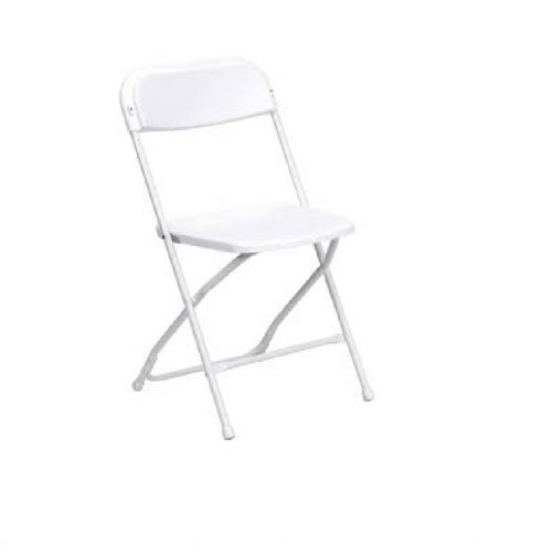 Chair Rental: White Standard Folding Chairs