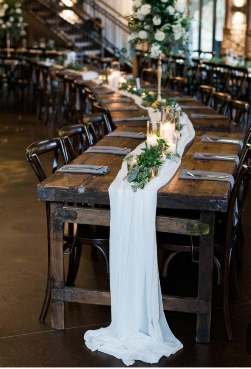 Curved Farm Table Rental