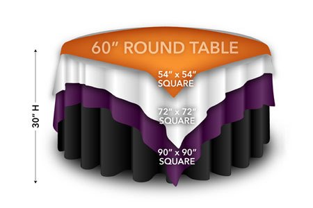 85in Square Table Cloth