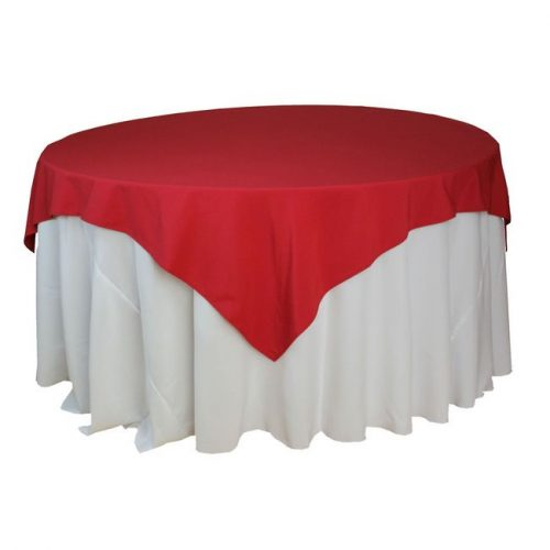 85in Red Square Table Cloth
