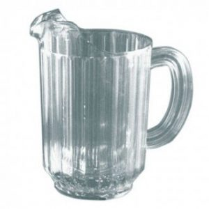 60z Clear Plastic Pitcher