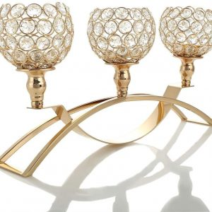 Gold Crystal Candle Holders Rental