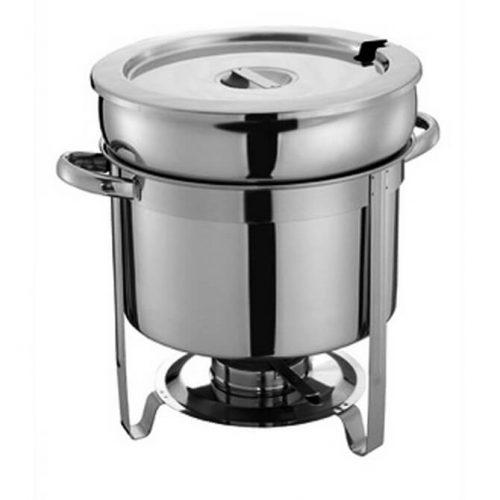 Bradford Hall 7-Quart Round Stainless Steel Soup Chafer