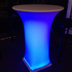 cocktail table with undertable lighting