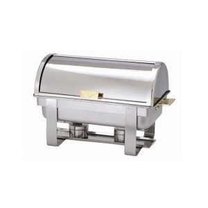 elegant gold handle full roll top chafer