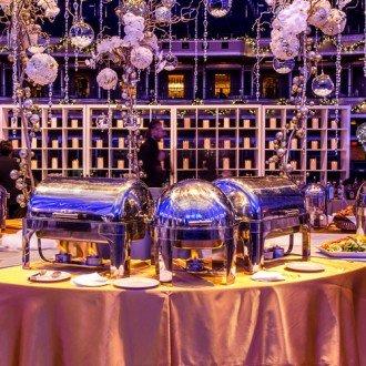 Elegant Gold Handel Full Roll Top Chafer Rental