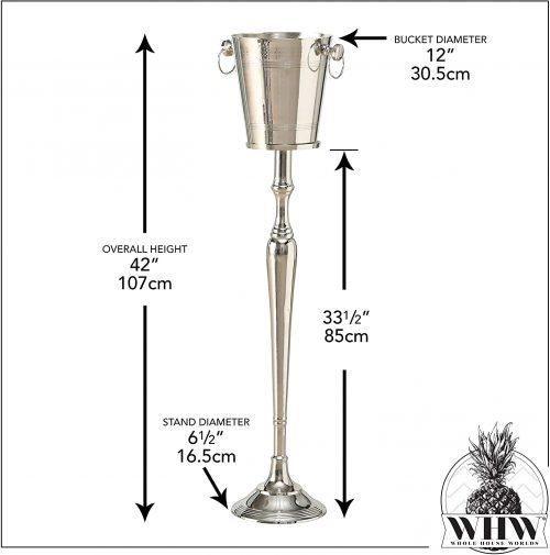 Tall Champagne Bucket Rental Dimensions