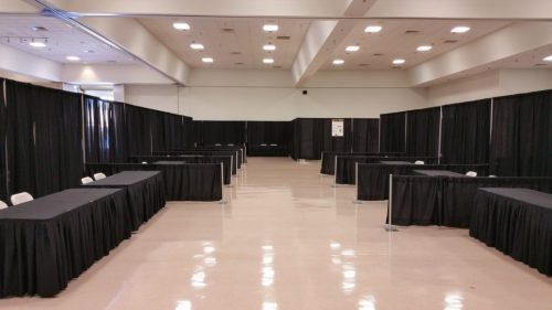 Pipe and Draping Event Example