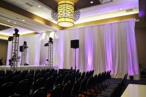 Pipe and White Draping