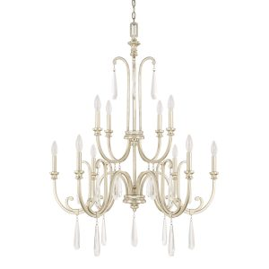 3 Gold And Crystal 10 Arm Chandelier