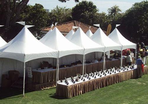 Fair 10 x 10 Frame Tent High Peak Rental Booths