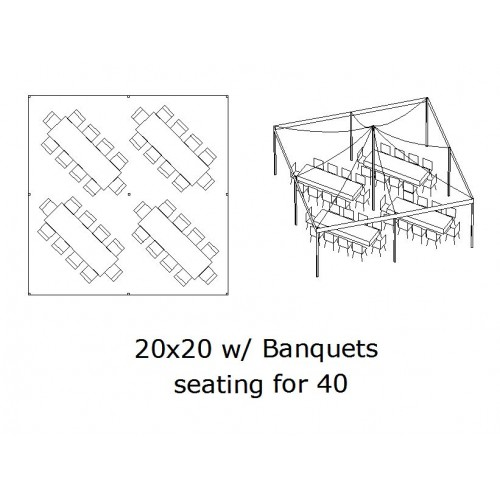 20x20 Banquet Seating 40