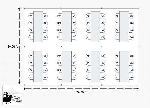 20x30 Banquet Diagram
