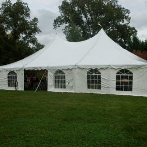 30x45 Frame Tent with Sidewalls