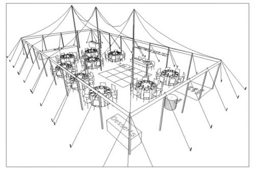 30x60 Canopy Tent- Layout