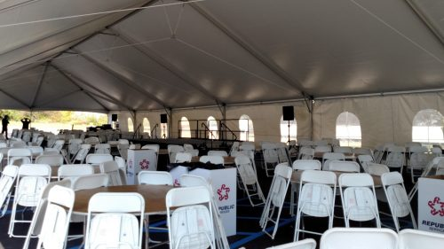 40x100 JumboTrac Frame Tent- Corporate Event