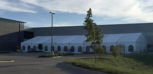 40x160 JumboTrac Frame Tent- Corporate Event