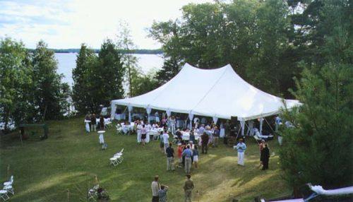 40x60 canopy wedding