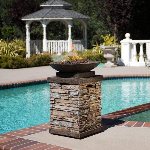 Propane Firepit Column Heater Rental