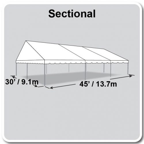 30x45 JumboTrac Gable Tent