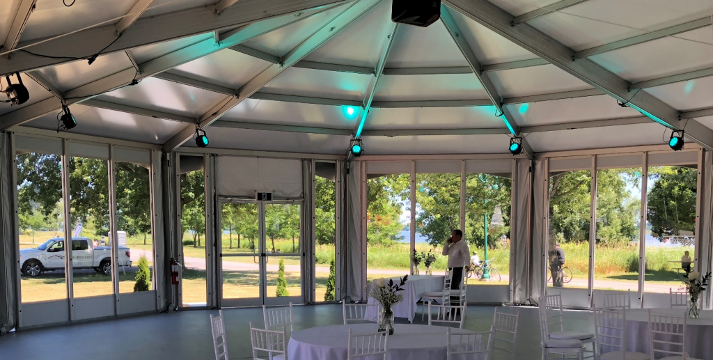 Glass Walls & Glass Door Tent Rental
