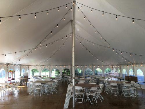 Pole Tent Bistro Lights