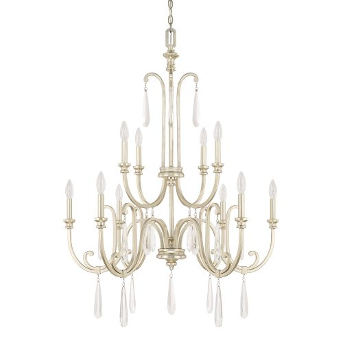 10arm chandelier gold and crystal