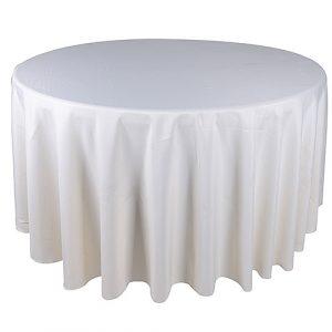 120in round white linen