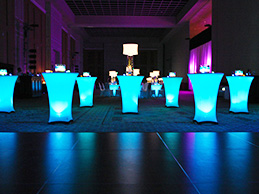cocktail tables with uplighting