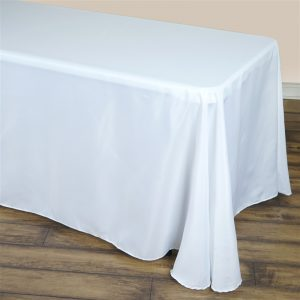 90x156 white full length linen