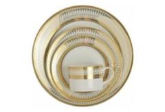Gold-Rimmed Dinnerware