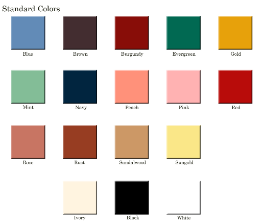 Linen Rental Colors