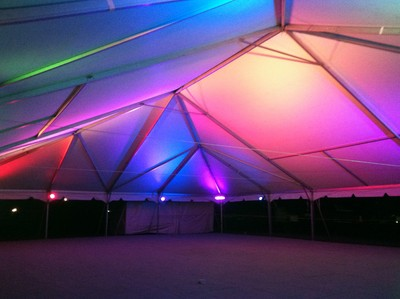 Tent with uplighting
