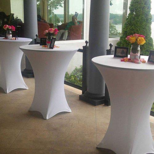 Cocktail Table Linen Rental