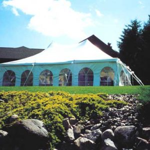 20x30 pole tent with sidewalls
