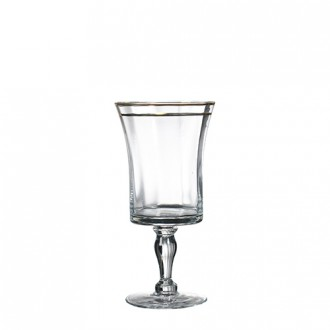 bella gold water goblet