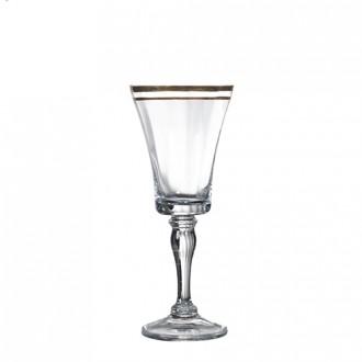 bella gold wine glass
