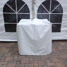 700 LB White Vinyl Block Cover For Event Tent Rental Service