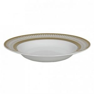 gold iriana soup bowl