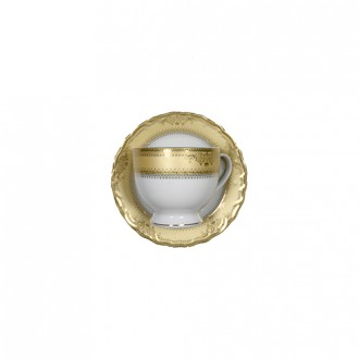 Vanessa Gold Saucer and Coffee Cup