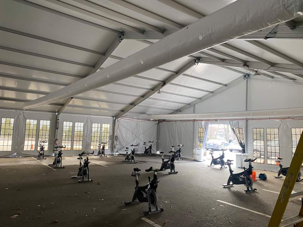 60x120 Structure Tent Exercise Bikes