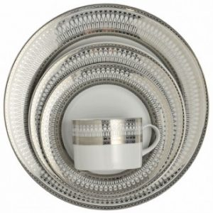 silver iriana dishware