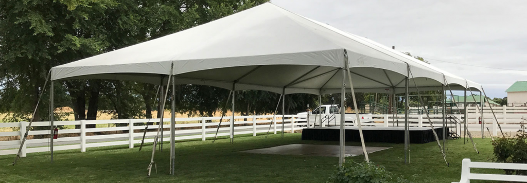 30ft JumboTrac Stage and Dance floor on Grass
